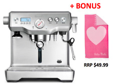 Breville BES920BSS Dual Boiler Espresso Machine - RRP $1,699.95 + BONUS TOWEL!
