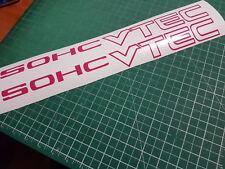 SOHC VTEC 16X1.5 Decals Stickers Graphics Honda Acura JDM Banner Badges Hot Pink