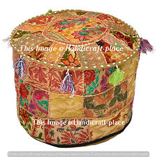 "22"" Indian Handmade Pouf Cover Moroccan Ottoman Home Decor Patchwork Ben Bag"