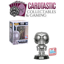 POP Star Wars Rogue One Death Star Droid (White) Chrome NYCC 2017 (RS)