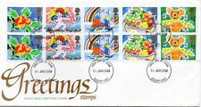 1989 Sg 1423/7 Greetings Stamps First Day Cover Unaddressed