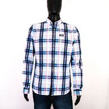 *W Superdry Mens Shirt Tailored Checks size L