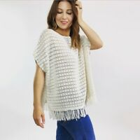NWT Joie Ivory Crochet Knit Top Women's Size Small