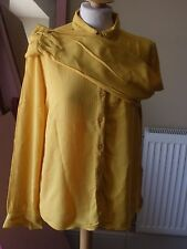 M&S Collection Mustard Yellow Shirt UK 10 Loose Fit