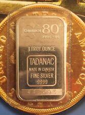 TADANAC COMINCO 80th Rare 999 SILVER ART BAR 1 TROY OZ COMMERCIAL INGOT