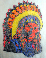 "Vintage 1974 Roach ""American Indian Chief"" Iron-on Transfer"