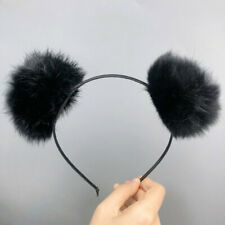 Bear Ears Hairband Rabbit Fur Womens Hair Head Hoop Sweet Lovely Girls Headband