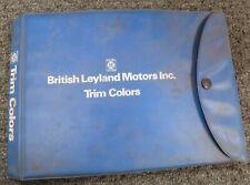 1977-1979 British Leyland Triumph TR7 Spitfire Vinyl Upholstery Manual 1978