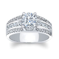 IGI Certified 0.91 Ct Diamond Engagement Solitaire Ring Solid 14K White Gold 6 7