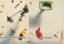 Publicité 1983  ( Double page )  Villeroy & Boch carrelage mur et sol