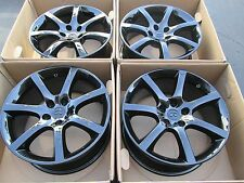 """18"""" INFINITI G35 COUPE FRONTS REARS WHEELS FACTORY OEM GLOSS BLACK FINISH SET 4"""