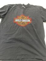 Vtg Harley Davidson Large USA T-Shirt Single Stitch Embroidered 80s Spell Out