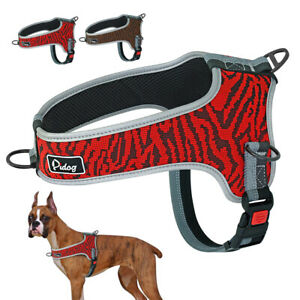 No Pull Front Clip Dog Harness Adjustable Reflective Pet Mesh Padded Vest M L XL