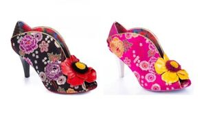 Irregular Choice 'Rita Primrose' Floral Embroidered High Stiletto Heel Shoes