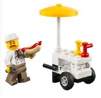 Lego ® City Minifig Figurine Vendeur Hot Dog + Charettes & Accessoires NEW