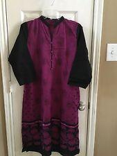 Indian Pakistani Women Cotton  Embroidered Kuri / Kameez*