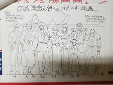 Rurouni Kenshin Tsuiokuhen Episode 3,4 OVA Samurai X Anime Settings Settei RARE