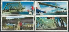 Canada 2005 Canadian Bridges #2103a block of 4 - MNH (Canso Causeway on back)