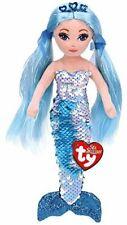 """TY INDIGO Aqua Blue SEQUIN MERMAID 18"""" 45cm SOFT TOY"""