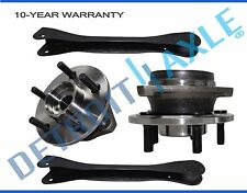 Fit 2000-2006 Jeep Wrangler TJ Front Wheel Bearing & Hub Upper Control Arm (4pc)