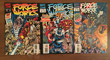 Force Works Marvel Comic Lot Iron Man Spider-Woman Scarlet Witch
