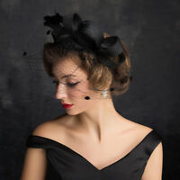 Elegant Ladies Gauze Hat Wedding Races Ascot Occasion Formal Mother Of The Bride