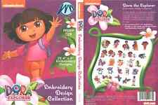 Brother Sanickde Nickelodeon Dora the Explorer Pes Machine Embroidery Designs Cd