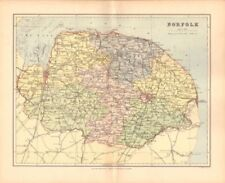 England Norfolk Antique Europe County Maps