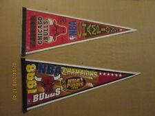 NBA Chicago Bulls Vintage 1997 & 1998 NBA Champions Logo Basketball Pennants