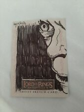 Lord of the Rings Masterpieces 2 Sketch Card