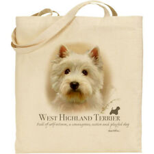 West Highland Terrier Dog Breed H Robinson reusable cotton shopping tote bag