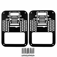 2Pcs Taillight Tail Light Lamp Cover Guard for Jeep Wrangler Jk Jku 2007-2018