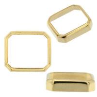 14K Yellow Gold Radiant Emerald Bezel Head Setting Mounting 2.50ct - 25.00ct USA