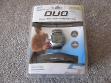 New Sportline Men's Duo 1010 Dual Use Heart Rate Monitor - Silver (SP1957BK)