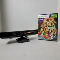 Microsoft 1414 Xbox 360 Kinect Sensor Bar Black - With Kinect Adventures Game