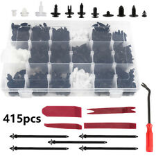 415X Car Body Trim Clips Retainer Bumper Rivets Screws Panel Push Fastener Kit