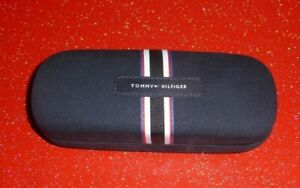 TOMMY HILFIGER HARD GLASSES CASE & CLOTH. EXCELLENT CONDITION.