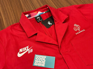 2021 NIKE DUNK SB PARRA FRANCE FEDERATION OLYMPIC SKATE COVERALLS RED NEW MEDIUM