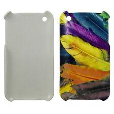 Custodia per Apple iPhone 3g 3gs 3 Hardcase Custodia Protettiva COVER CASE PIUME colorata