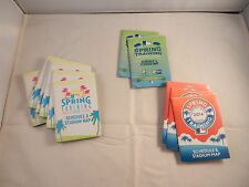 "15 - SPRING TRAINING POCKET SCHEDULES  ""NEW"" SGA - 2011, 2012, & 2014"
