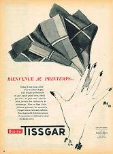PUBLICITE ADVERTISING 025  1954  TISSGAR tissus BOUSSAC  les mouchoirs