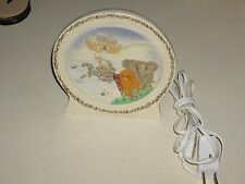 👀🎅💲Near Mint Porcelain Rainbow Noah's Ark Animals Night Light Child Baby Room