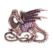 Shiny Dragon Brooch Lapel Pin Vivid Rhinestone Sturdy Brooch Pin for Women Men