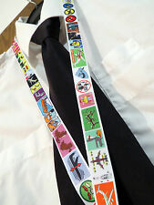 1x Airplane Safety Card neckstrap neck strap keychain lanyard w. Safety Clip
