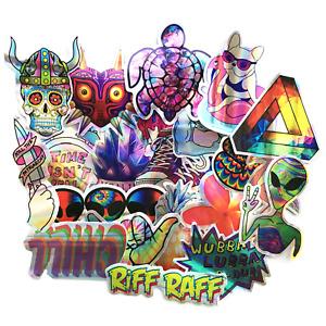 21 Shiny Holographic Laser Graffiti Foil Skateboard Stickers