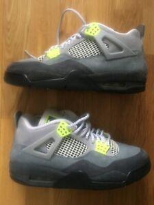 Nike Air Jordan Retro 4 SE Neon Wolf Grey Uk 7.5 100% original
