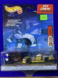 2000 HOT WHEELS RACING NASCAR DELUXE PIT CREW 55 CHEVY & DAYTONA 500 TOOL BOX