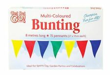 Fabric Multi Coloured Bunting Banner 10m Long 20 Flags Pennant Party Decoration