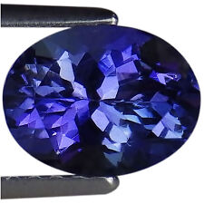 1.43 Ct A Natural D Block Tanzanite Gemstone Light Blue Violet Color Oval Cut