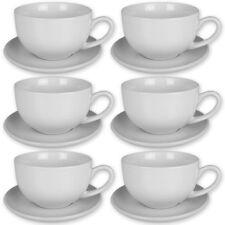 12tlg Tassen Set Kaffee Cappuccino Espresso Tasse Kaffeetasse Untertasse Wei�Ÿ